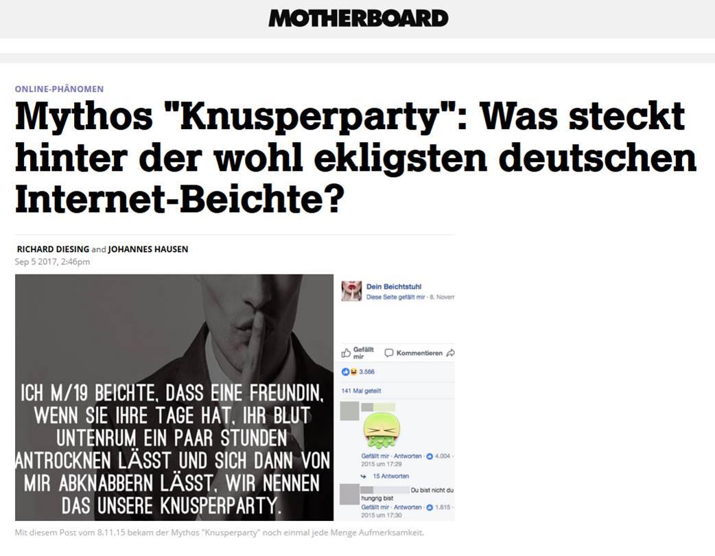 Presse Motherboard Knusperparty